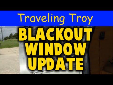 Campervan Blackout Window Coverings Update