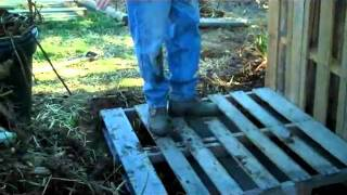 Building A Compost Bin From Shipping Pallets.wmv