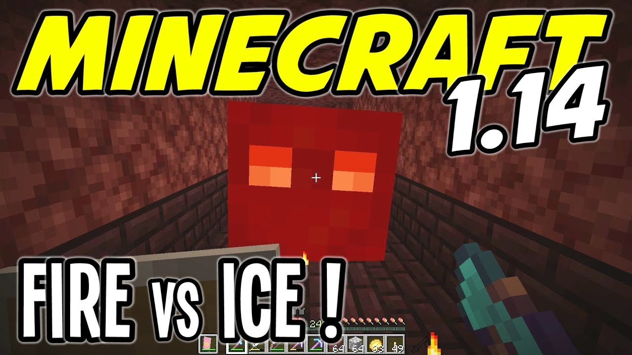 Minecraft 1 14 - RAIDING a NETHER FORTRESS! FIRE vs ICE! - Minecraft 1 14  Playthrough - Ep 16