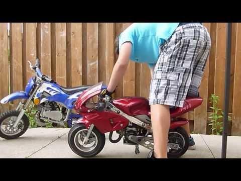 50cc 2 stroke Pocket bike and Mini dirt bike for sale *** - YouTube