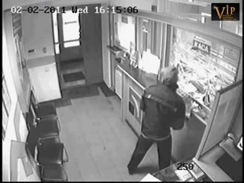 Caught post office robbery on CCTV