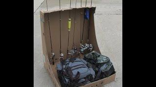 Cardboard Rod Rack Hack