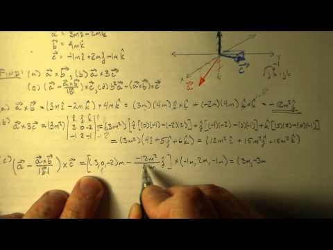Cross Product Operations
