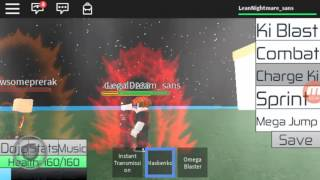 Playing roblox (dbz rage)