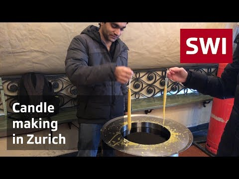 Candle making in Zurich