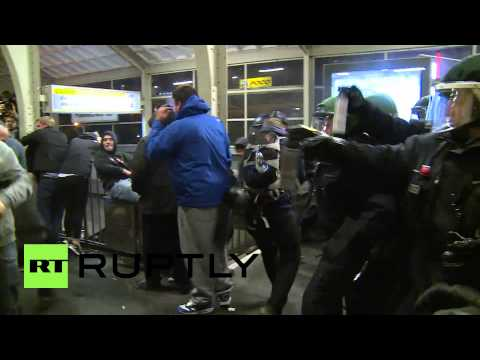 Germany: Police fire tear gas at Berlin metro station