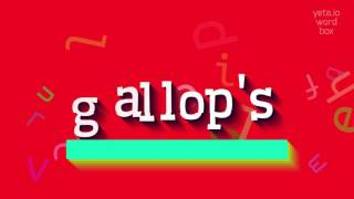 Download lagu How to saygallop s MP3