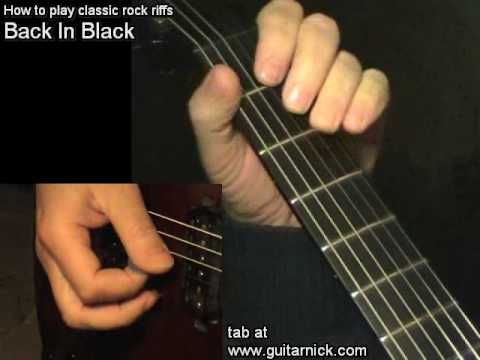 Guitar guitar tabs back in black : Back In Black, ACDC - guitar lesson & TAB! learn to play classic ...