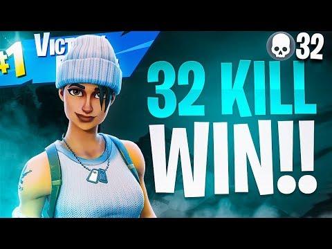 INSANE 32 KILL WIN! (My BEST Solo VS Squads Game) - Fortnite Battle Royale