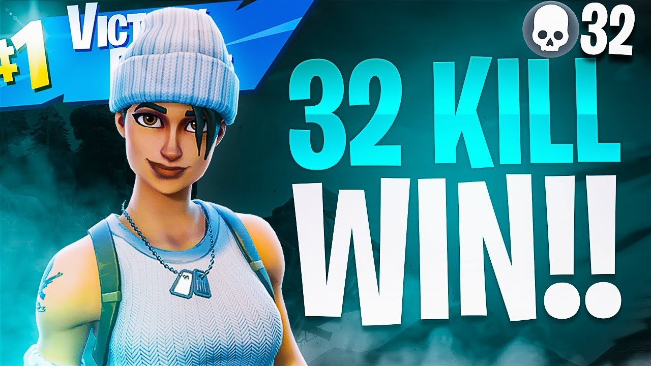 INSANE 32 KILL WIN! (My BEST Solo VS Squads Game) - Fortnite Battle Royale