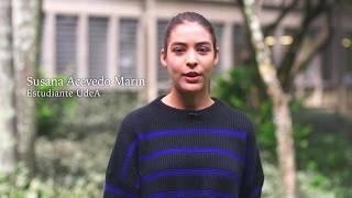 UdeA - Susana saluda al profe Juan Camilo, de Contexto Social. Día del Maestro 2018