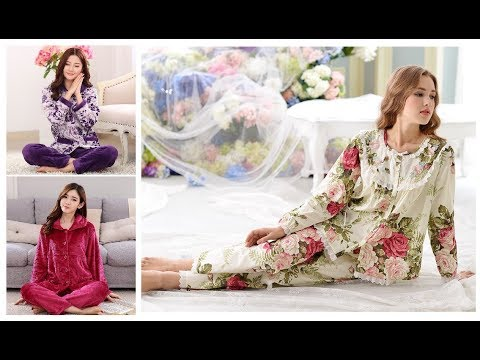 [VIDEO] - Stylish Pajama Sets For Women Fashion Night Wear=Casual Sleepwear Dresses 2018-19 9