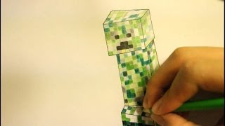 How To Draw A Creeper|From Minecraft|Face|Step By Step