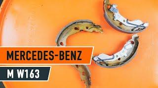 Cum se inlocuiesc saboții frânei de parcare pe MERCEDES-BENZ M W163 [TUTORIAL]