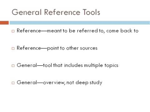 09 General Reference Works Part 2
