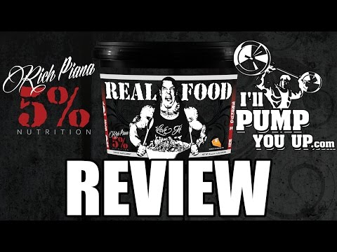 Rich Piana 5% Nutrition Real Food Supplement Review and Taste Test