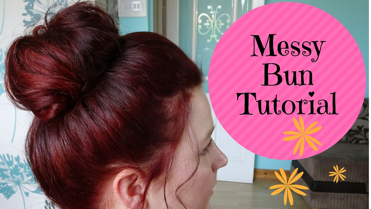 how to make a messy bun in your hair
