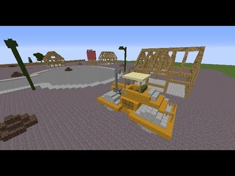The construction site in minecraft ed edd n eddy cul de sac map update yo - Site de construction minecraft ...