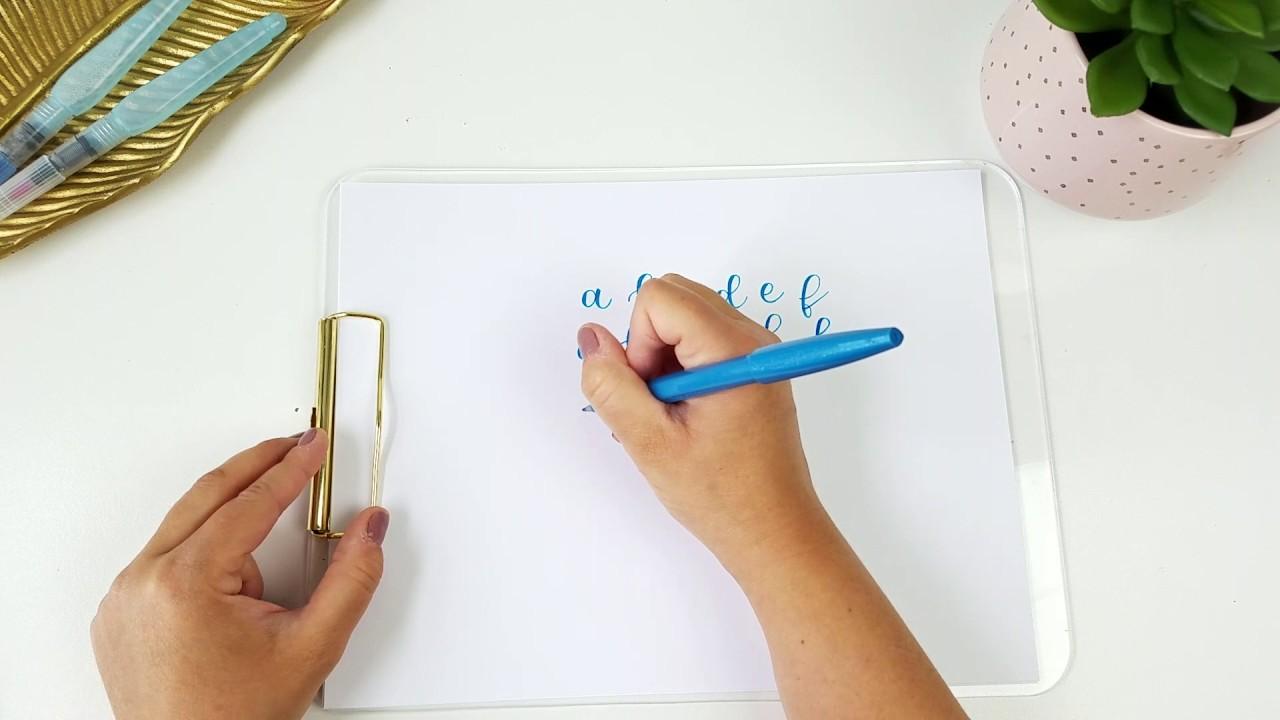 Calligraphy alphabet a z for beginners pentel brush pen