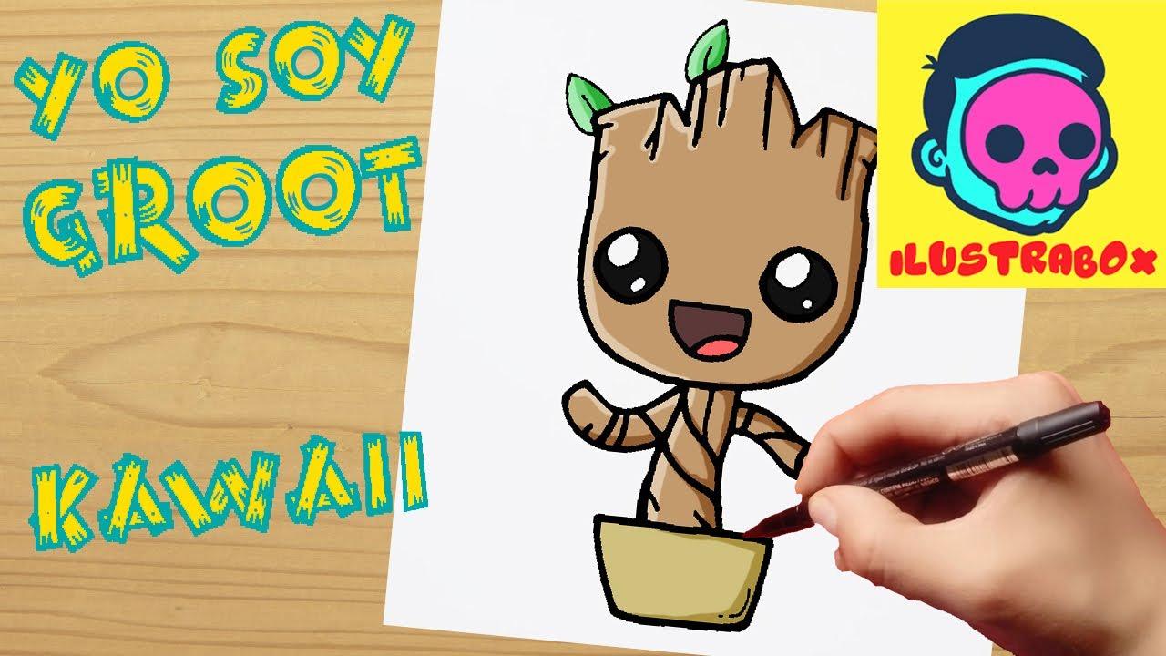 Como Dibujar A Groot How To Draw Groot Guardianes De La Galaxia
