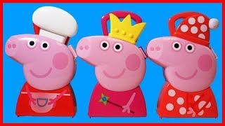 佩佩豬粉紅豬小妹公主廚師和睡衣組精品禮物玩具盒