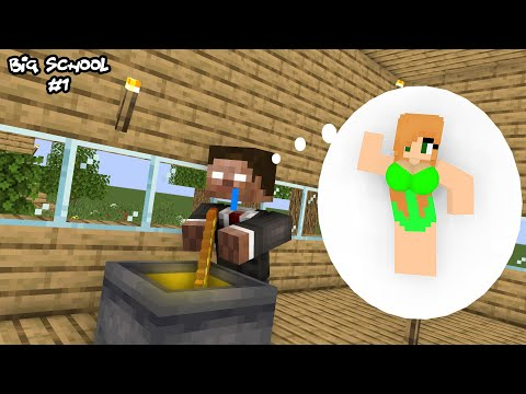 Brewing Girlfriend - Funny Monster School Minecraft Animation (HAHA ANIMATION, BIG SCHOOL)