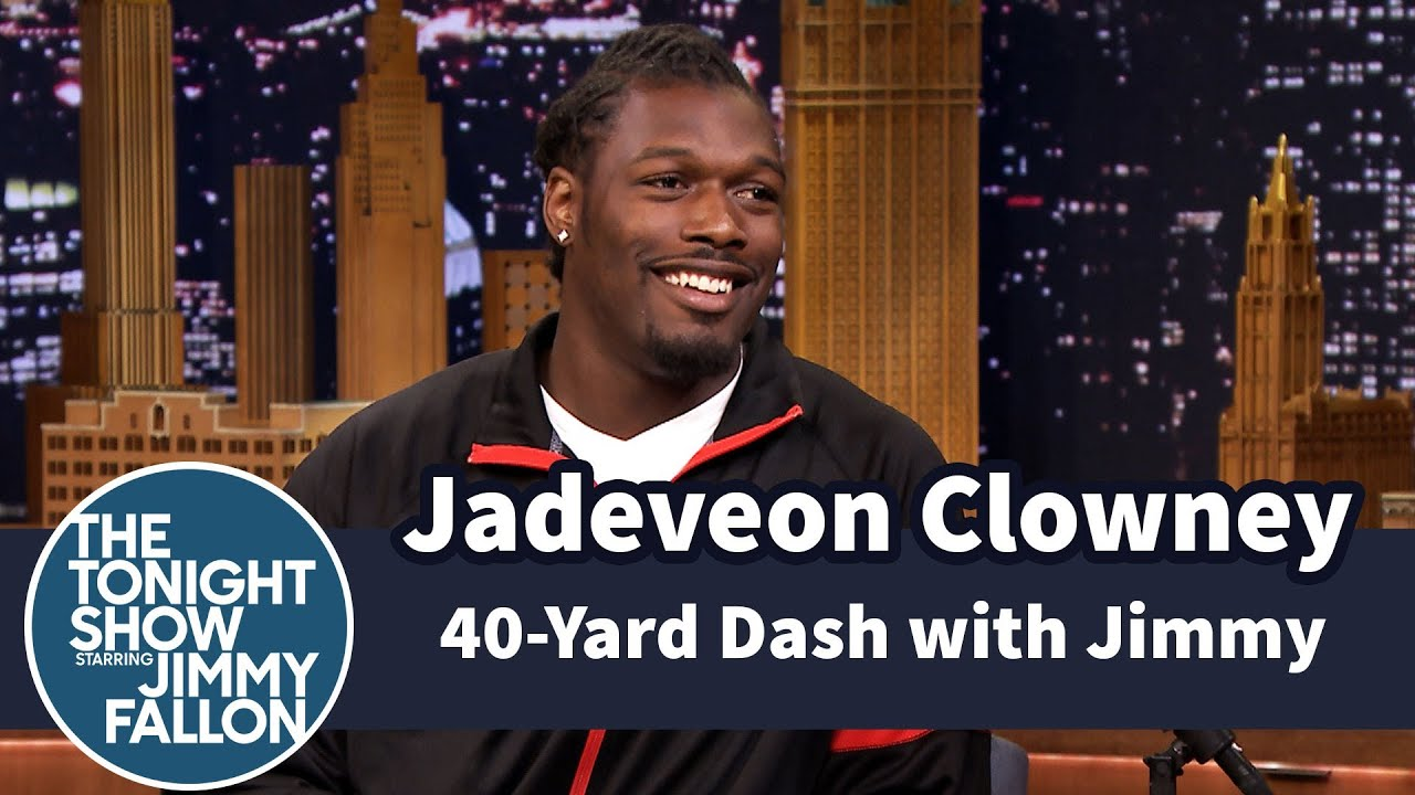 Jimmy Does 40 Yard Dash with Jadeveon Clowney