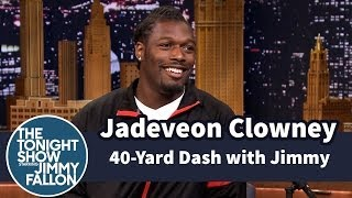 Repeat youtube video Jimmy Does 40-Yard Dash with Jadeveon Clowney
