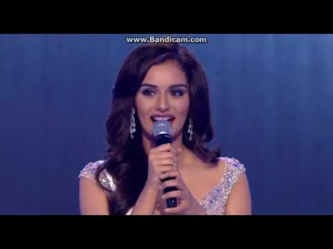 Miss World 2017   Question and Answer Manushi Chillar