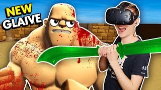 NEW WAR GLAIVE WEAPON IN VIRTUAL REALITY! (GORN VR HTC Vive Funny Gameplay)