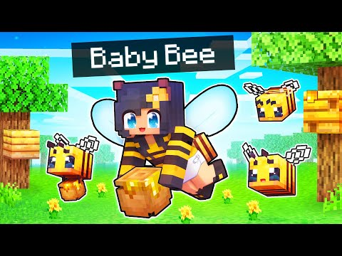 Buzzing Around as a BABY BEE In Minecraft!