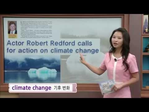영자신문읽기 - Actor Robert Redford calls for action on climate change