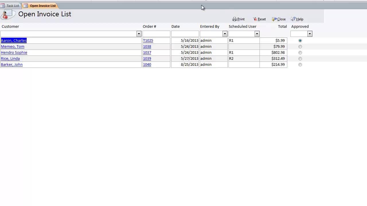 Open Invoice List YouTube - Open invoice oildex