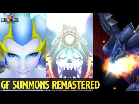 Final Fantasy VIII Remastered - GF Summons 2019 [4k]