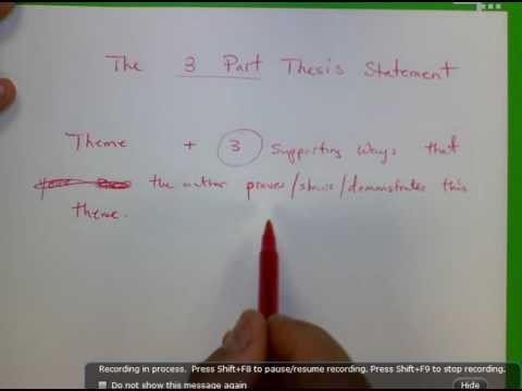 Three part Thesis Statement Purple Hibiscus