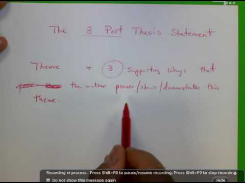 Three Part Thesis Statement Purple Hibiscus Youtube