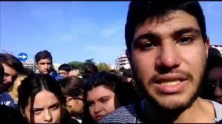 """Polivalente """"Nervi-Fermi-Cassandro"""", la protesta degli studenti per carenza di aule"""