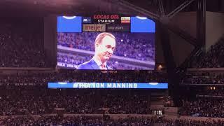 Peyton Manning Jersey Retirement- October 2017