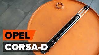Come cambiare Kit ammortizzatori OPEL CORSA D - video tutorial