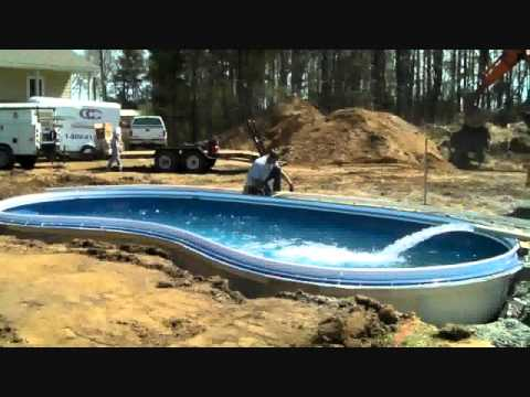 Can A Fiberglass Pool And Patio Be Installed In One Day Youtube