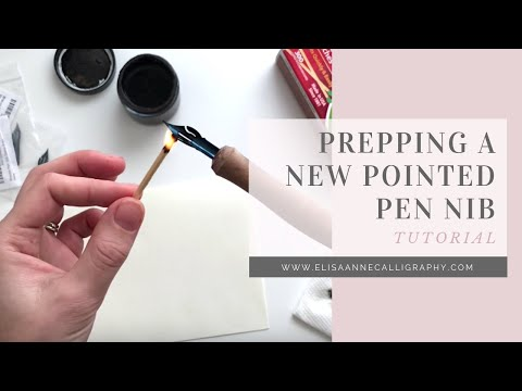 Prepping A New Nib For Calligraphy || Calligraphy Tips & Tricks