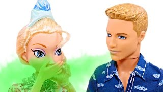 Ken has Bad Breath! Barbie takes him to visit Dr. Elsa, the Dentist | Barbie Doll Episodes on DCTC