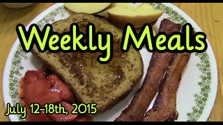 Weekly Meals July 12-18, 2015