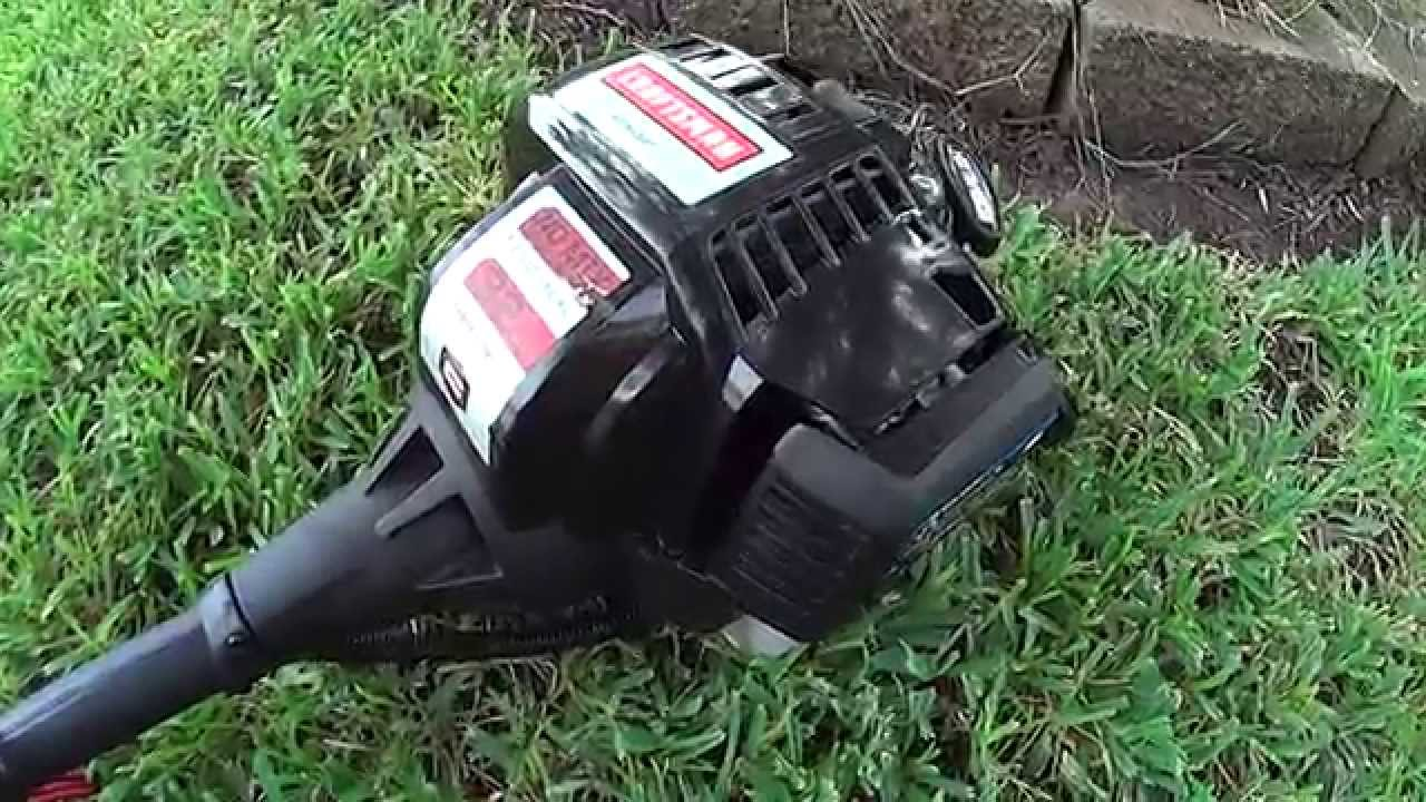 Review On Craftsman 32cc 4 Cycle Weedwacker Model 73193 Gas Trimmer