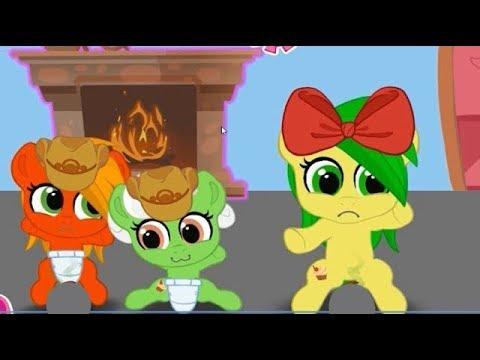 День Д. Карманная пони.  Мультик игра для детей.  My little pony.  дружба это чудо