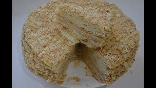 """Торт """"Наполеон"""", домашний рецепт, очень прост в приготовлении."""