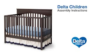 Delta Children Layla 4-in-1 Crib Assembly Video