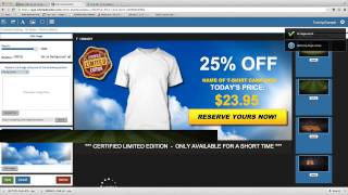 How to change the Background - Tshirt Ad Builder - Teespring Or More