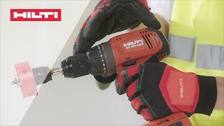 INTRODUCING the Hilti SF 6H-A22 cordless hammer drill driver with Active Torque Control (ATC)