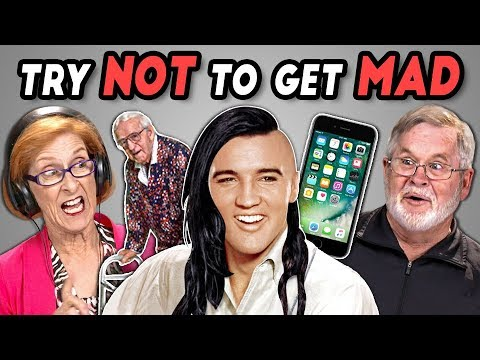 Elders React To Try Not To Get Mad Challenge